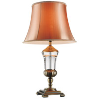 Yale 24 inch 60 watt Antique Brass Table Lamp Portable Light