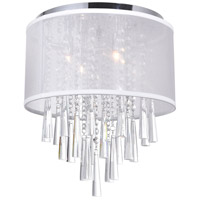 CWI Lighting 5519C13C-(OFF-WHITE) Renee 4 Light 13 inch Chrome Flush Mount Ceiling Light