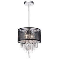 CWI Lighting 5519P13C-(BLACK) Renee 4 Light 13 inch Chrome Pendant Ceiling Light