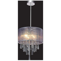 CWI Lighting 5519P13C-(OFF-WHITE) Renee 4 Light 13 inch Chrome Pendant Ceiling Light