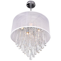 CWI Lighting 5519P17C-(OFF-WHITE) Renee 6 Light 17 inch Chrome Chandelier Ceiling Light