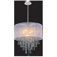 CWI Lighting 5519P19C-(OFF-WHITE) Renee 8 Light 19 inch Chrome Chandelier Ceiling Light