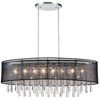 CWI Lighting 5519P36C-O-(BLACK) Renee 8 Light 36 inch Chrome Chandelier Ceiling Light