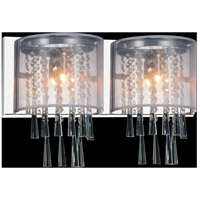 CWI Lighting 5519W19C-2-(OFF-WHITE) Renee 2 Light 19 inch Chrome Wall Sconce Wall Light