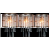 CWI Lighting 5519W29C-3-(GOLD) Renee 3 Light 29 inch Chrome Wall Sconce Wall Light