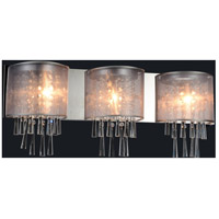CWI Lighting 5519W29C-3-(SILVER) Renee 3 Light 29 inch Chrome Wall Sconce Wall Light