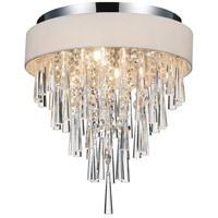CWI Lighting 5523C16C-(OFF-WHITE) Franca 4 Light 16 inch Chrome Flush Mount Ceiling Light