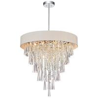 CWI Lighting 5523P22C-(OFF-WHITE) Franca 8 Light 22 inch Chrome Chandelier Ceiling Light