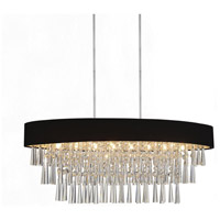 CWI Lighting 5523P38C-O-(BLACK) Franca 8 Light 38 inch Chrome Chandelier Ceiling Light