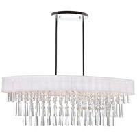 CWI Lighting 5523P38C-O-(OFF-WHITE) Franca 8 Light 38 inch Chrome Chandelier Ceiling Light