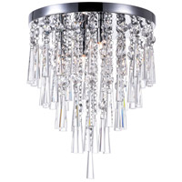 CWI Lighting 5524C14C Blissful 4 Light 14 inch Chrome Flush Mount Ceiling Light photo thumbnail