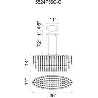 CWI Lighting 5524P36C-O Blissful 8 Light 12 inch Chrome Chandelier Ceiling Light