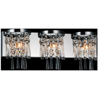 CWI Lighting 5524W24C-3 Blissful 3 Light 24 inch Chrome Wall Sconce Wall Light