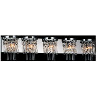 Blissful 5 Light 41 inch Chrome Wall Sconce Wall Light