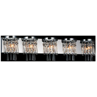 CWI Lighting 5524W41C-5 Blissful 5 Light 41 inch Chrome Wall Sconce Wall Light photo thumbnail