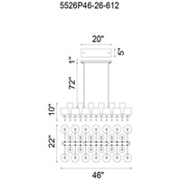 Montoya 26 Light 22 inch Pearl Black Chandelier Ceiling Light