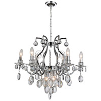 Chrome Glass Traditional Crystal Chandeliers