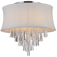 CWI Lighting 5532C19C-(OFF-WHITE) Audrey 6 Light 19 inch Chrome Flush Mount Ceiling Light