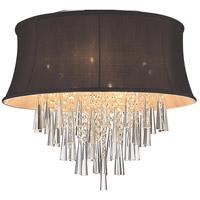CWI Lighting 5532C22C-(DARK-PURPLE) Audrey 8 Light 22 inch Chrome Flush Mount Ceiling Light