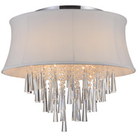CWI Lighting 5532C22C-(OFF-WHITE) Audrey 8 Light 22 inch Chrome Flush Mount Ceiling Light