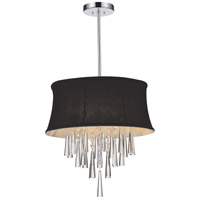 CWI Lighting 5532P16C-(BLACK) Audrey 4 Light 16 inch Chrome Chandelier Ceiling Light