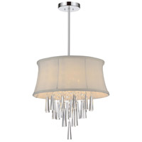 CWI Lighting 5532P16C-(OFF-WHITE) Audrey 4 Light 16 inch Chrome Chandelier Ceiling Light