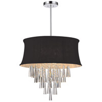 CWI Lighting 5532P22C-(BLACK) Audrey 8 Light 22 inch Chrome Chandelier Ceiling Light