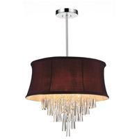 CWI Lighting 5532P22C-(DARK-PURPLE) Audrey 8 Light 22 inch Chrome Chandelier Ceiling Light