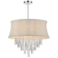 CWI Lighting 5532P22C-(OFF-WHITE) Audrey 8 Light 22 inch Chrome Chandelier Ceiling Light