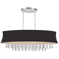 CWI Lighting 5532P38C-O-(BLACK) Audrey 8 Light 38 inch Chrome Chandelier Ceiling Light