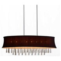 CWI Lighting 5532P38C-O-(DARK-PURPLE) Audrey 8 Light 38 inch Chrome Chandelier Ceiling Light
