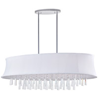 CWI Lighting 5532P38C-O-(OFF-WHITE) Audrey 8 Light 38 inch Chrome Chandelier Ceiling Light