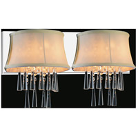 CWI Lighting 5532W21C-2-(BEIGE) Audrey 2 Light 21 inch Chrome Wall Sconce Wall Light