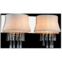 CWI Lighting 5532W21C-2-(OFF-WHITE) Audrey 2 Light 21 inch Chrome Wall Sconce Wall Light photo thumbnail