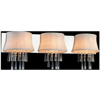 CWI Lighting 5532W32C-3-(OFF-WHITE) Audrey 3 Light 32 inch Chrome Wall Sconce Wall Light