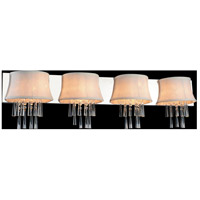 CWI Lighting 5532W43C-4-(OFF-WHITE) Audrey 4 Light 43 inch Chrome Wall Sconce Wall Light