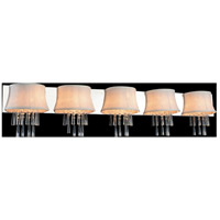 CWI Lighting 5532W54C-5-(OFF-WHITE) Audrey 5 Light 54 inch Chrome Wall Sconce Wall Light