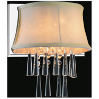 CWI Lighting 5532W9C-1-(BEIGE) Audrey 1 Light 9 inch Chrome Wall Sconce Wall Light