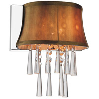 CWI Lighting 5532W9C-1-(BROWN) Audrey 1 Light 9 inch Chrome Wall Sconce Wall Light