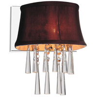 CWI Lighting 5532W9C-1-(DARK-PURPLE) Audrey 1 Light 9 inch Chrome Wall Sconce Wall Light