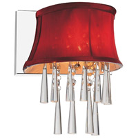 CWI Lighting 5532W9C-1-(ROSE-RED) Audrey 1 Light 9 inch Chrome Wall Sconce Wall Light
