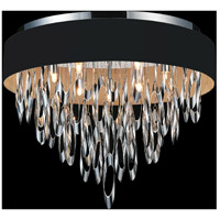 CWI Lighting 5534C23C-BLACK Excel 9 Light 23 inch Chrome Flush Mount Ceiling Light
