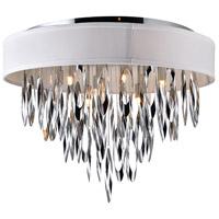 CWI Lighting 5534C23C-WHITE Excel 9 Light 23 inch Chrome Flush Mount Ceiling Light