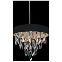 CWI Lighting 5534P19C-BLACK Excel 6 Light 19 inch Chrome Chandelier Ceiling Light