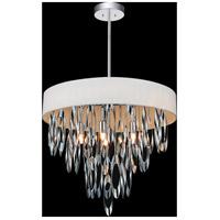 CWI Lighting 5534P19C-WHITE Excel 6 Light 19 inch Chrome Chandelier Ceiling Light
