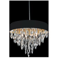 CWI Lighting 5534P23C-BLACK Excel 8 Light 23 inch Chrome Chandelier Ceiling Light