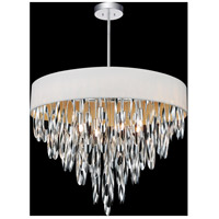 CWI Lighting 5534P23C-WHITE Excel 8 Light 23 inch Chrome Chandelier Ceiling Light