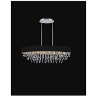 CWI Lighting 5534P41C-BLACK Excel 8 Light 41 inch Chrome Chandelier Ceiling Light
