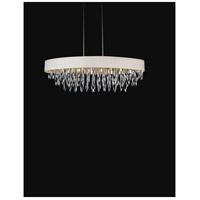 CWI Lighting 5534P41C-WHITE Excel 8 Light 41 inch Chrome Chandelier Ceiling Light