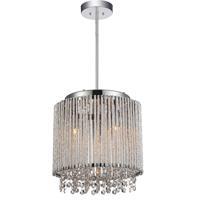 CWI Lighting 5535P10C-R Claire 3 Light 10 inch Chrome Pendant Ceiling Light